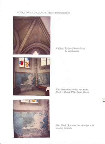 Restauration du choeur de l'Eglise d'Aulnoy
