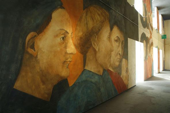 Fresques, couloir des salles à manger. Photo : A.Dovifat