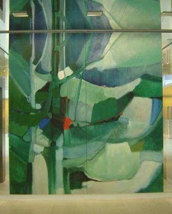 Vert : toile marouflée, 2.80 m x 3 m