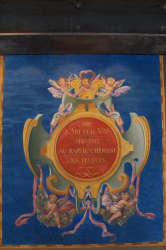 Grand cartouche et inscription